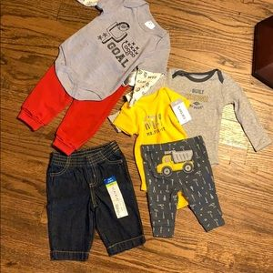 NB boy bundle Pants and bodysuits